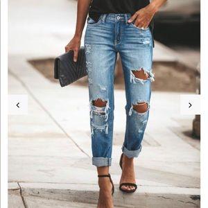Abercrombie boyfriend jeans.
